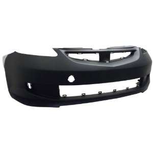 TY5 Honda Fit Primed Black Replacement Front Bumper Cover Automotive