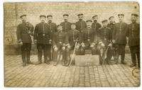 WWI German Real Photo Postcard Group of Younger Soldiers 2 With Swords