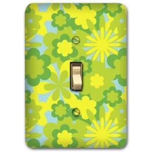 Flower Metal Light Switch Plate Cover Home Decor 240
