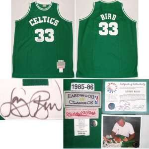 Larry Bird Signed Celtics 1985 86 Model Authentic Mitchell