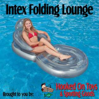 Intex Inflatable Folding Lounge Chair Pool Float Tube |