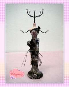 Evening Gown Mannequin Doll Necklace Jewelry Display Holder