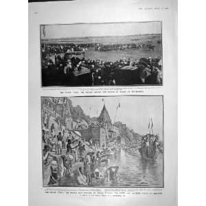 1906 PRINCE WALES HYDERABAD RIVER BATHING GHATS BENARES
