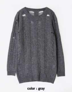 New Womens Ladder Stitch Wool Knit Sweater Top S   M