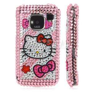 PINK HELLO KITTY CRYSTAL BLING CASE COVER FOR NOKIA E5 Electronics