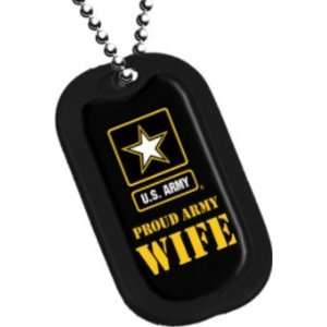 United States Army Armed Forces Proud Army Wife Yellow