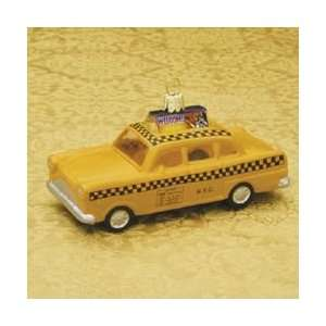 Pack of 8 Glass Blown New York City Taxi Cabs Christmas Ornaments 4