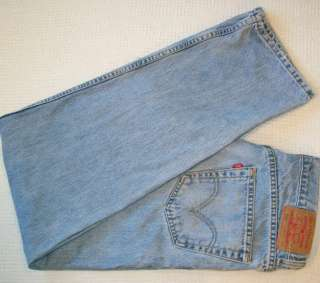 Authentic LEVI 550 Blue Denim Jeans 34x36 LEVIS RELAXED FIT faded