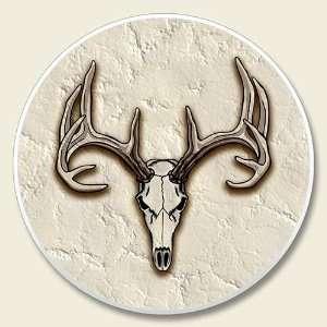 Deer Skull Antlers Cupholder Auto Coaster (1) Kitchen