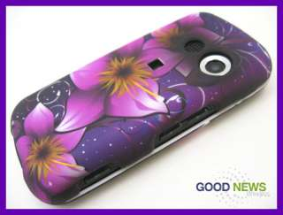 for Verizon LG Cosmos VN250 Purple Pink Flower Rubberized Hard Case