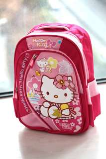 Sanrio Hello Kitty Pink school bag BackPack nylon NEW 3