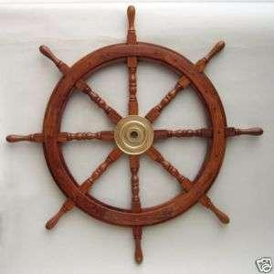 36 Wood / Brass Ships Wheel ~ Wooden~ Pirate ~ Captain