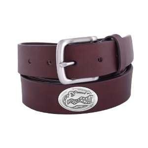 NCAA Florida Gators Brown Leather Concho Belt, 42 Sports