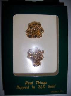24 K GOLD REAL ROSE EARINGS LOVE JEWERLY VALENTINE