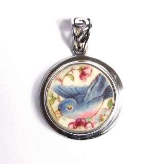 Jewelry   Vintage Blue Bird Bluebird   Sterling Silver Pendant