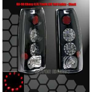 Chevy Silverado Led Tail Lights Black LED Taillights 1988