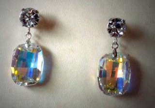 Swarovski crystal drop earrings clear crystalAB