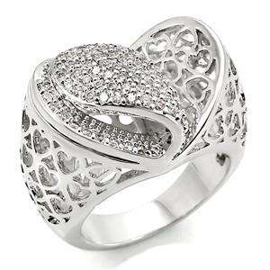 R783 8   2 CARAT I LOVE YOU HEARTS RING FABULOUS VALENTINES DAY GIFT