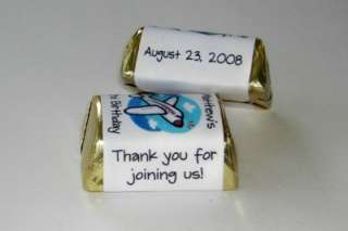 60 AIRPLANES BIRTHDAY PARTY FAVORS CANDY WRAPPERS