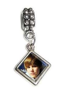 Justin Bieber Charm Bead & Bail Fits European Bracelets