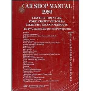 1989 Lincoln Town Car, Ford Crown Victoria, & Mercury