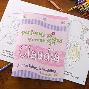Personalized Flower Girl Coloring Book Toys & Games