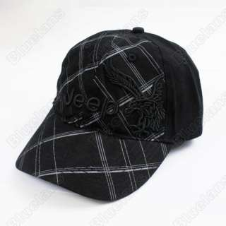 Golf Ball Classic Sport Casual Embroidery Hat Cap with Eagle Black