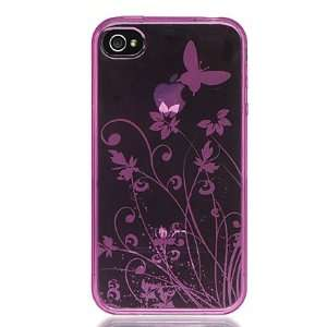 New Pink Butterfly Flower Garden Crystal Soft Skin Candy Silicone Case