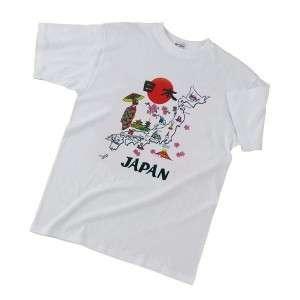 Japanese Soul T Shirt White Japan Countrhy Pattern L