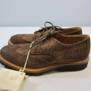 New Brunello Cucinelli Vintage Wingtip Oxfords Shoes Size 9 / 42 Z
