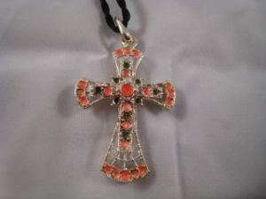 Colorful Cross Necklace Fashion Jewelry with Black Rope