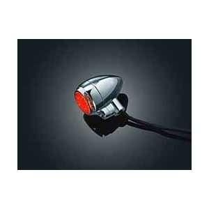 L.E.D. Small Silver Bullets   Red, Single Circuit (pr