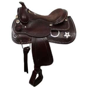 Double T Tooled 16 Pleasure Saddle With Texas Star