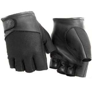 River Road Pecos Mens Leather & Mesh Fingerless Motorcycle