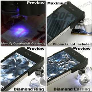 Microscope Lens and LED Light With Case For Apple iPhone 4 4G DC77