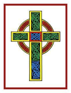 Celtic Knot Cross Irish Art Counted Cross Stitch Chart