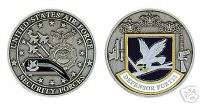 USAF AIR FORCE SECURITY FORCES SILVER CHALLENGE COIN