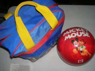 New Mickey Mouse 10 Pound Bowling Ball w Used Case