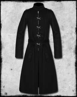 CRIMINAL DAMAGE BLACKLIST BLACK GOTHIC CYBER STEAMPUNK HOOK TRENCH