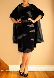 Marina Rinaldi Max Mara Party Dress Stole Set Black Velvet MR21,23/12