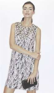 Burch Brown & white silk Georgette Sandrine Branch Prints Dress size 2