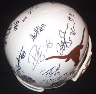 2009 2010 Texas Longhorns Team Signed BCS Helmet PROOF