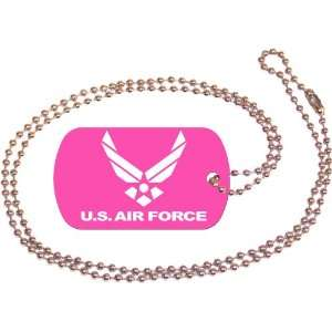 U.S. Air Force Pink Dog Tag with Neck Chain Everything