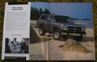 1991 Dodge Truck Brochure Ram Pickup Dakota