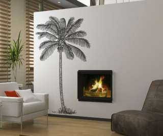 Vinyl Wall Decal Sticker Coconut Palm Tree 6 Feet Tall