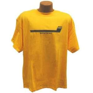 Ford Mustang Boss 302 Stripe Gold Cotton Mens Tee Shirt Sm
