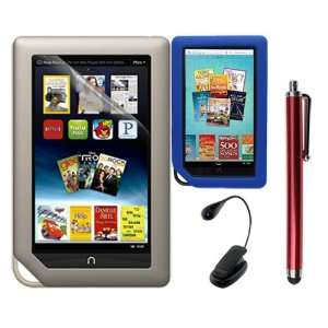 Clear Screen Protector + Blue Soft Silicone Cover Case + Touch Screen
