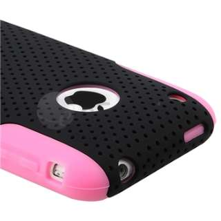 Soft Skin/Black Meshed Hard Case Cover For iPhone 3 3rd G 3GS