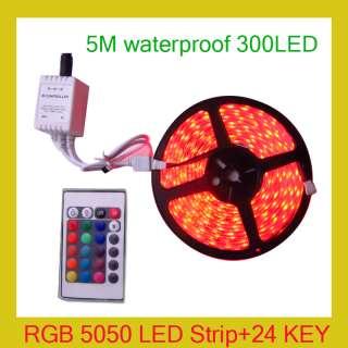 5050 Multi Color SMD Flexible LED Strip 300 Leds+24 Key Remote
