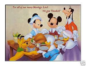 Mickey Mouse Thanksgiving edible cake image